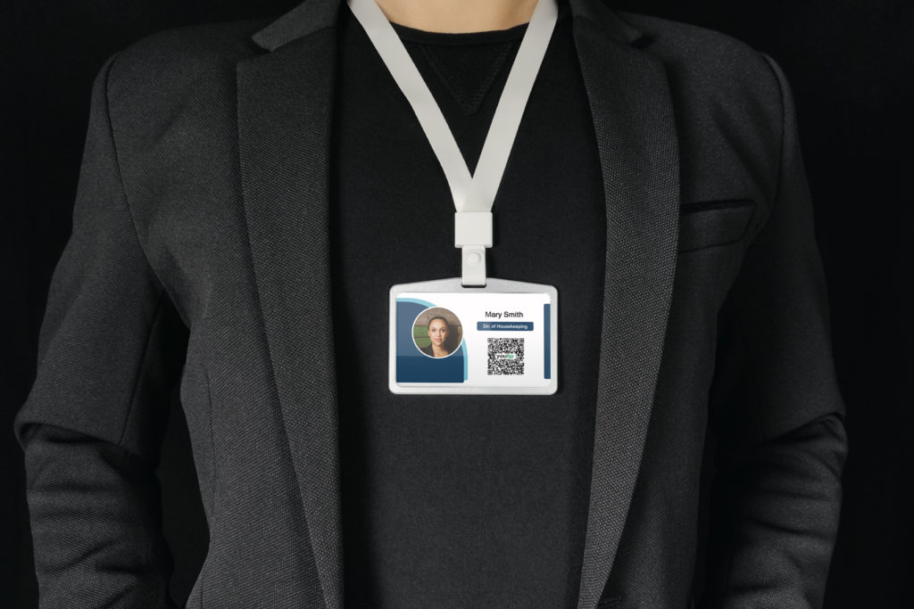 youtip qr code on id badge