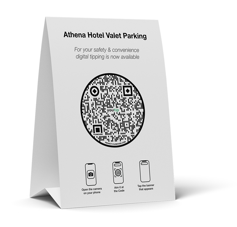 Cashless Tipping QR Code Example